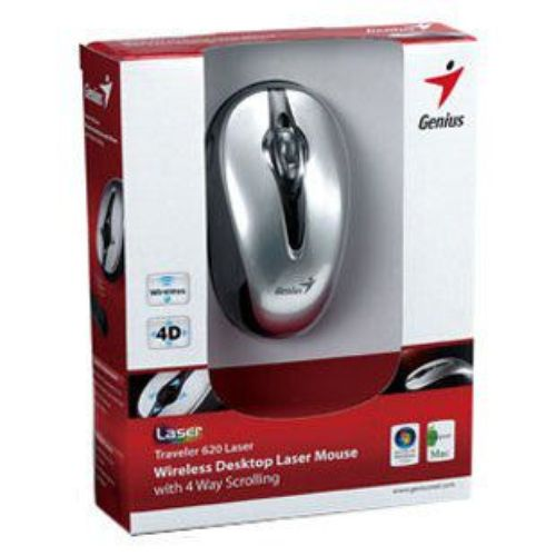 MOUSE WIRELESS GENIUS TRAVELER 620 LASER USB ,Mouse