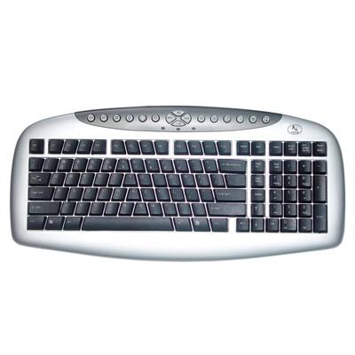 KEYBOARD A4TECH MULTIMEDIA KBS-21 BLACK USB ,Keyboard