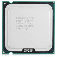 CPU INTEL 3.2 GHZ 2M PC800 SOK775 DUALCORE TRAY E5800 مستعمل ,Desktop CPU