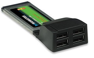 CARD PCMCIA EXPRESS USB2.0 4PORT MANHATTAN 158299 ,Card
