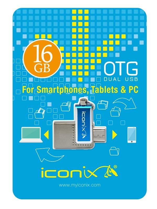 RAM USB 16GB FLASH I CONIX OTG معدنية ,Flash Memory