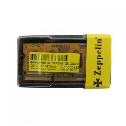 DDR3 4GB PC1600 ZEPPELIN FOR NOTEBOOK LV 1.35V BOX ,Laptop RAM