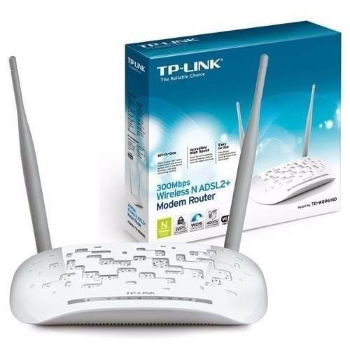 ADSL2 MODEM+ROUTER+4PORT+ACCESSPOINT WIRELESS-N 300Mbps TP-LINK TD-W8961N ,ADSL Routers
