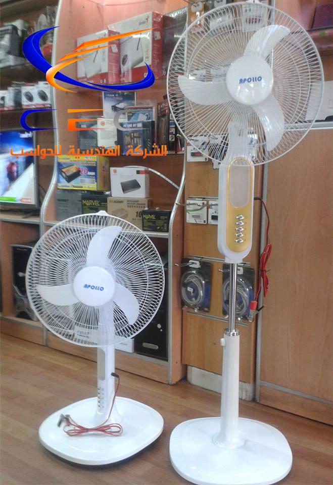 مروحة عمودية 12 فولت- 3سرعات- مع إنارة Royal Fan ,Room Fan