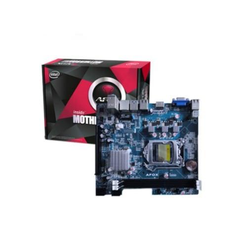 MB AFOX I7 INTEL H81 SOK1150 DDR3 VGA+SB+LAN IH-81MA مستعملة ,Desktop Mainboard