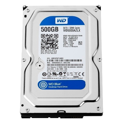 HD 500GB WD  SATA3 32MB FOR PC PULLED OUT مسحوب من أجهزة ,Desktop HDD