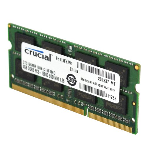 DDR3 8GB PC1600 CRUCIAL FOR NOTEBOOK LV 1.35V BOX ,Laptop RAM
