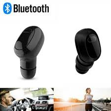 HEADSET BLUETOOTH MINI FOR MOBILE PHONES S361 BLACK & WHITE ,Headphones & Mics