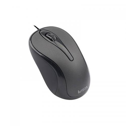 MOUSE A4TECH OPTICAL PADLESS N-302 BLACK USB ,Mouse