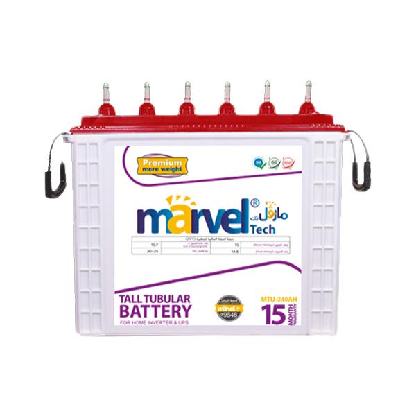 BATTERY MARVEL TUBULAR  MTU240 12V/240AHسائله هنديه انبوبيه / يفضل شحن البطاريه بشكل كامل قبل الاستخدام ,Batteries
