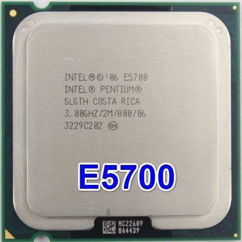 CPU INTEL 3GHZ 2M PC800 SOK775 DUALCORE TRAY E5700 مستعمل ,Desktop CPU