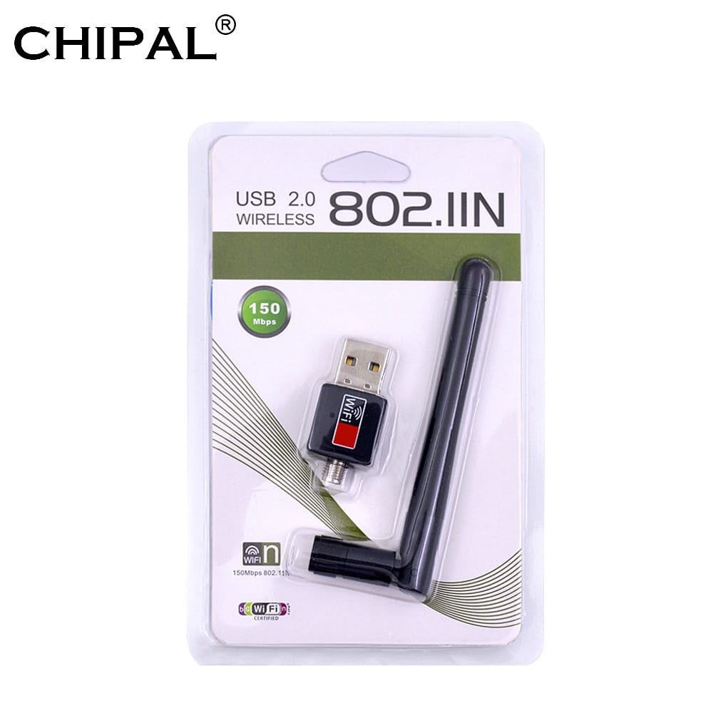 CARD LAN WIRELESS  WITH 1 ANTENNA 802.IIN MINI USB2.0 150N انطين طويل ,Wirless & Switch