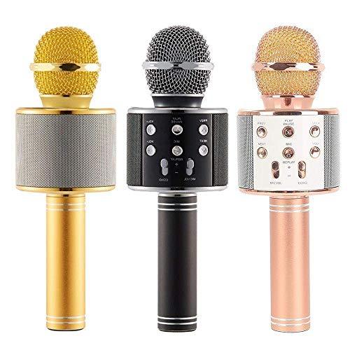 WIRELESS MICROPHONE & SPEAKER KAROKE HANDHELD KTV STEREO - USB & SD CARED & FM & RECORD SONG - WS-858 -COLOR  مايكروفون كاريوكي, Speakers