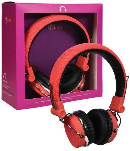 HEADPHONE BLUETOOTH ZLINK H6001BT +FM + MICRO SD COLOR ,Headphones & Mics