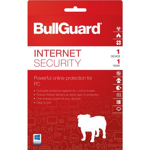BullGuard Internet security 1 device 1 year Windows only ,BullGuard