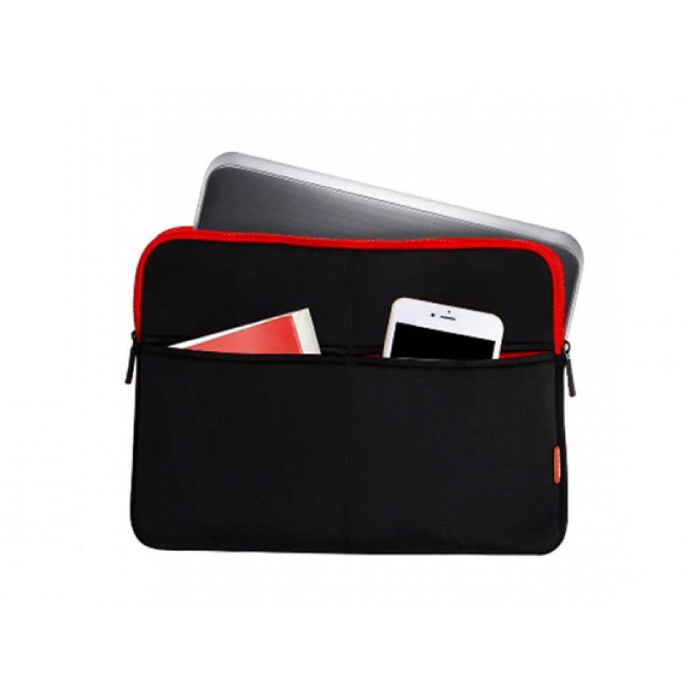NOTEBOOK BAG PROMATE ZIPPER-L BLACK&RED 15.6 ,Laptop Bag