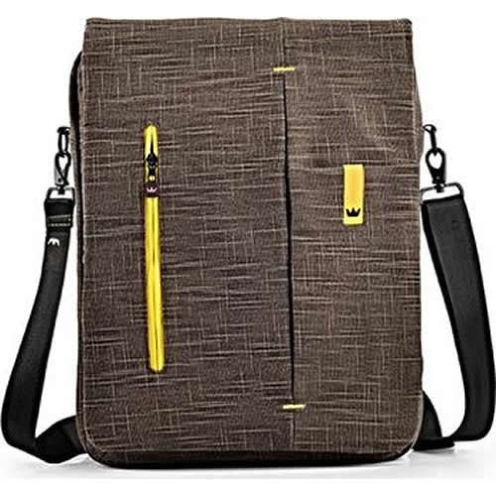 NOTEBOOK BAG 15.6 CROWN MBE15BN SHOULDER BAG BROWN&YELLOW ,Laptop Bag