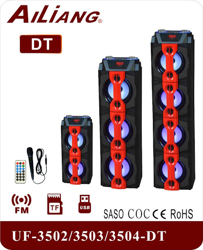 SUBWOOFER BLUETOOTH AILIANG FOR MP3 &MOBILE & FM & SD CARD USB+MICROPHNE BIG COLOR UF-3513-DT +شاشة+مايك+جهاز تحكم ,Speakers
