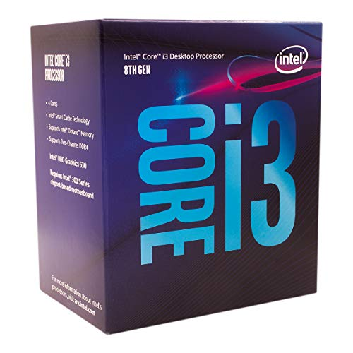 CPU INTEL CORE™ i3 3.6 GHz 6MB CACHE SOK LGA 1151 8100 TH GEN S-SEC SR3N5 TRAY WITH FAN ,Desktop CPU