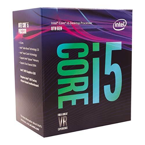 CPU INTEL CORE™ i5 3.60 GHz UP TO 4.30 GHz 9 MB SMART.CACHE SOK LGA 1151 8600K TH GEN Cores 6 Threads  6 95 W BOX بدون مروحه ,Desktop CPU