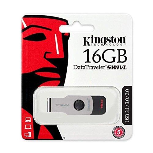RAM USB 16GB FLASH KINGSTON DataTraveler SWIVL USB 3.0 ,Flash Memory