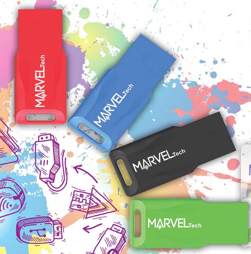 RAM USB 64GB FLASH MARVEL TECH USB2.0 COLOR, Flash Memory
