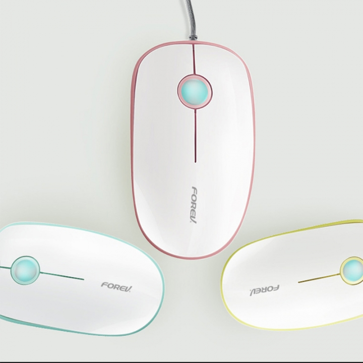 MOUSE FOREV OPTICAL FV-C6 1600 DPI SILENT CLICK COLOR ,Mouse