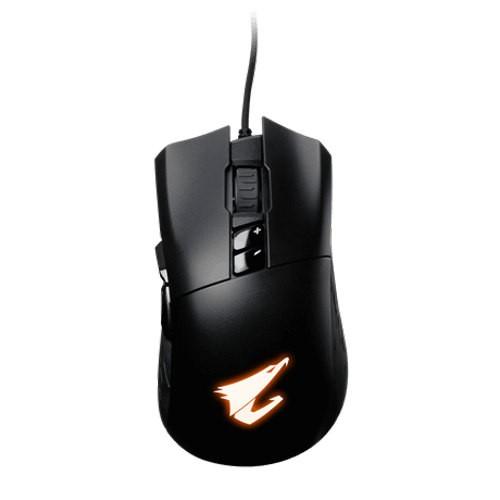 MOUSE GIGABYTE AORUS M3 GAMING RGB OPTICA 6400 DPI USB BLACK ,Mouse