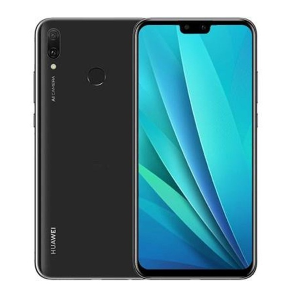 MOBILE PHONE HUAWEI 6.5 OCTA CORE Hisilicon Kirin 710 4GB 64GB CAMERA DUAL16 MP FINGERPRINT DUAL SIM + SD HUAWEI Y9 2019 BLUE ,Android Smartphone