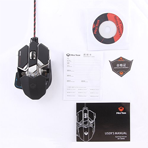 MOUSE MEETION GAMING OPTICALGM30 RGB 4000DPI USB ,Mouse