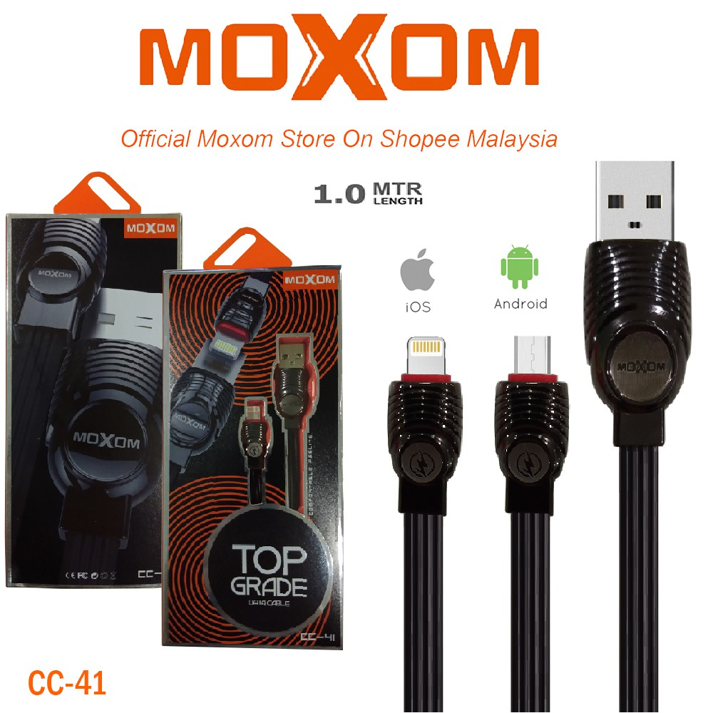 CABLE FOR IPHONE DATA & CHARGE MOXOM CC-41 ,Other Smartphone Acc