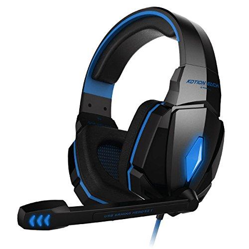 HEADSET GAMING KOTION EACH G4000  PRO BASS HD LED ,Headphones & Mics