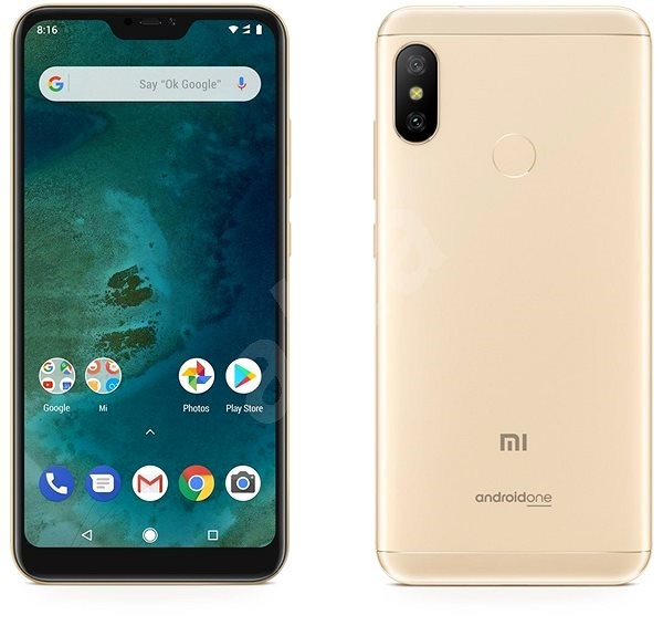 MOBILE PHONE XIAOMI 5.84 OCTA CORE 2.0GHZ 4GB 64GB DUAL SIM MI A2 LITE - GOLD كفالة ذهبية ,Android Smartphone
