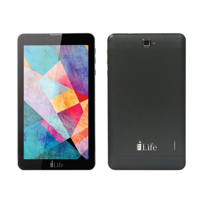 TABLET PC I LIFE 7.0 HD - QUADCORE 1.2GHZ 1GB 16GB Dual Camera - 4G Dual Sim - BT- FM Radio - Android 8.0 Oreo - MS office Preloaded - K4700 - BLACK - غير معرفة ,Display 7 Inch