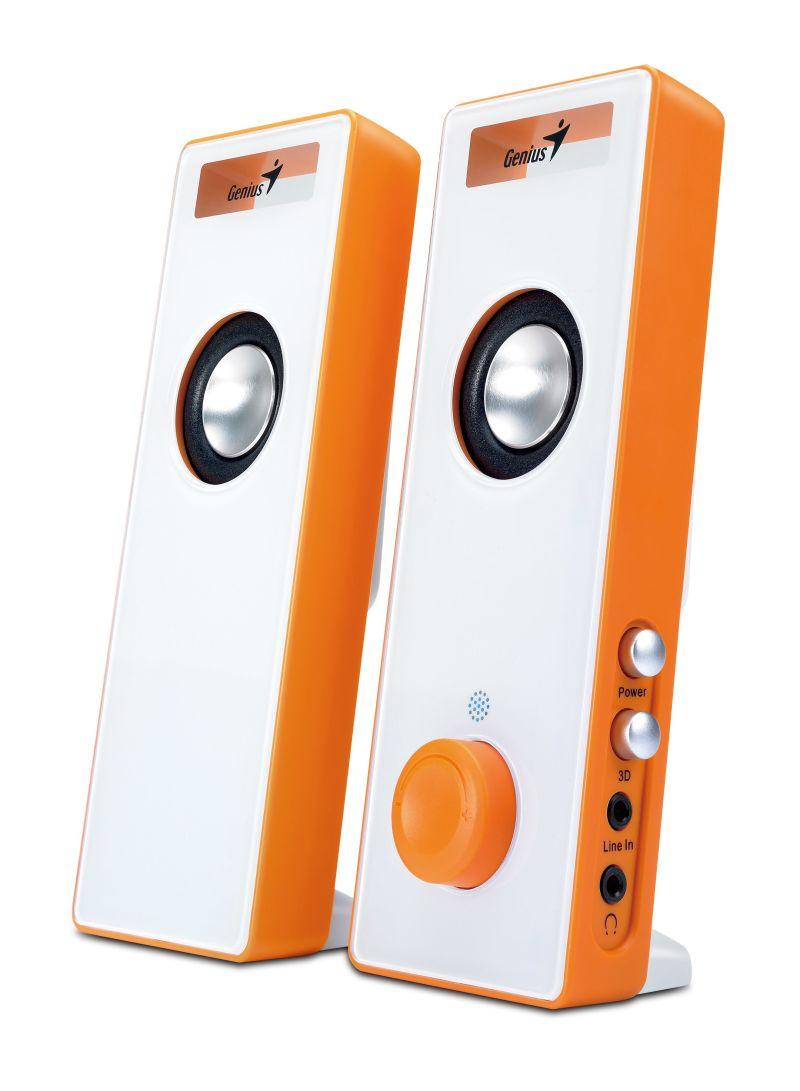 SPEAKER GENIUS SP-I220 ORANGE SLIM WITH 3D SURROUND ,Speakers