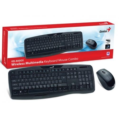KEYBOARD WIRELESS GENIUS+MOUSE KB-8000X BLACK ,Keyboard