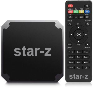 SMART TV BOX ANDROID STAR-Z - QUAD CORE RAM 1G / ROM 8G - 4K 60FPS - WIFI - HDMI - LAN - AV - ANDROID 7.1 ,Other Smartphone Acc