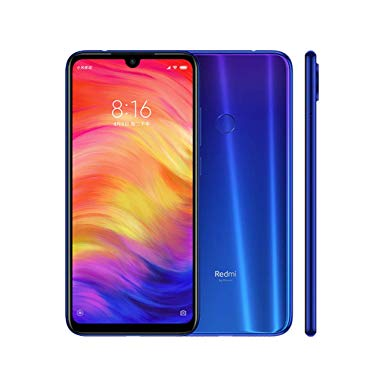 MOBILE PHONE XIAOMI 6.3 OCTA CORE 1.8GHZ 4GB 64GB DUAL SIM REDMI NOTE 7  BLUE كفالة ذهبية ,Android Smartphone