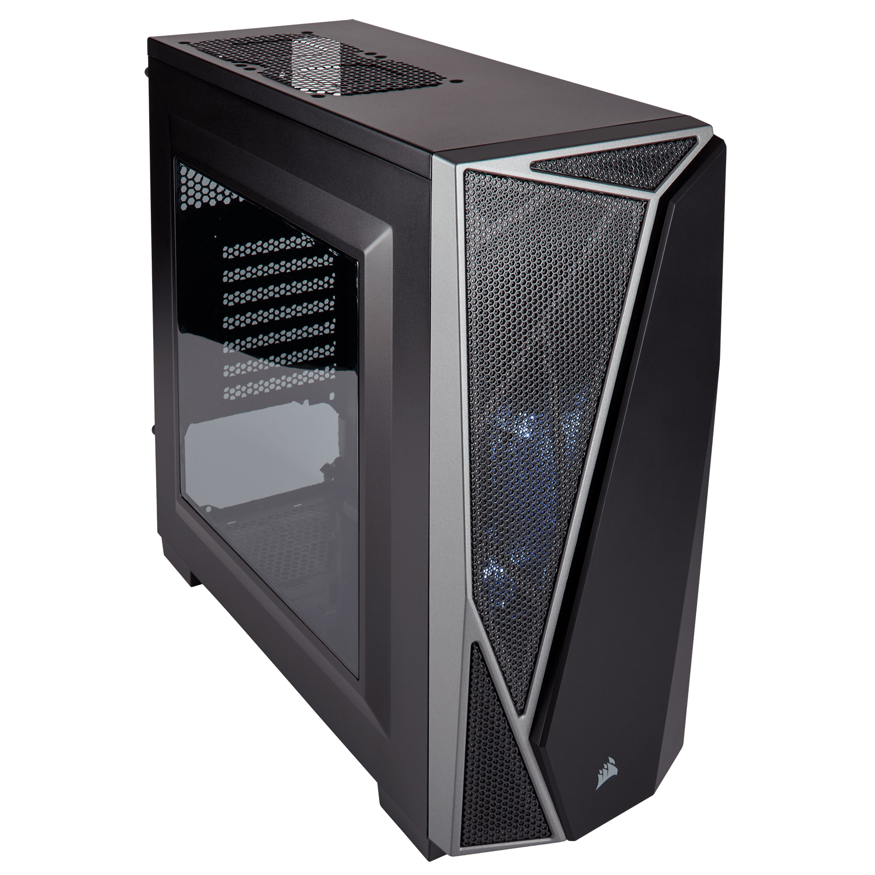 CASE CORSAIR GAMING P4 MIDDLE TOWER SPEC-04 CARBIDE SERIES BLACK/GREY CC-9011109-WW, Case & Power Supply