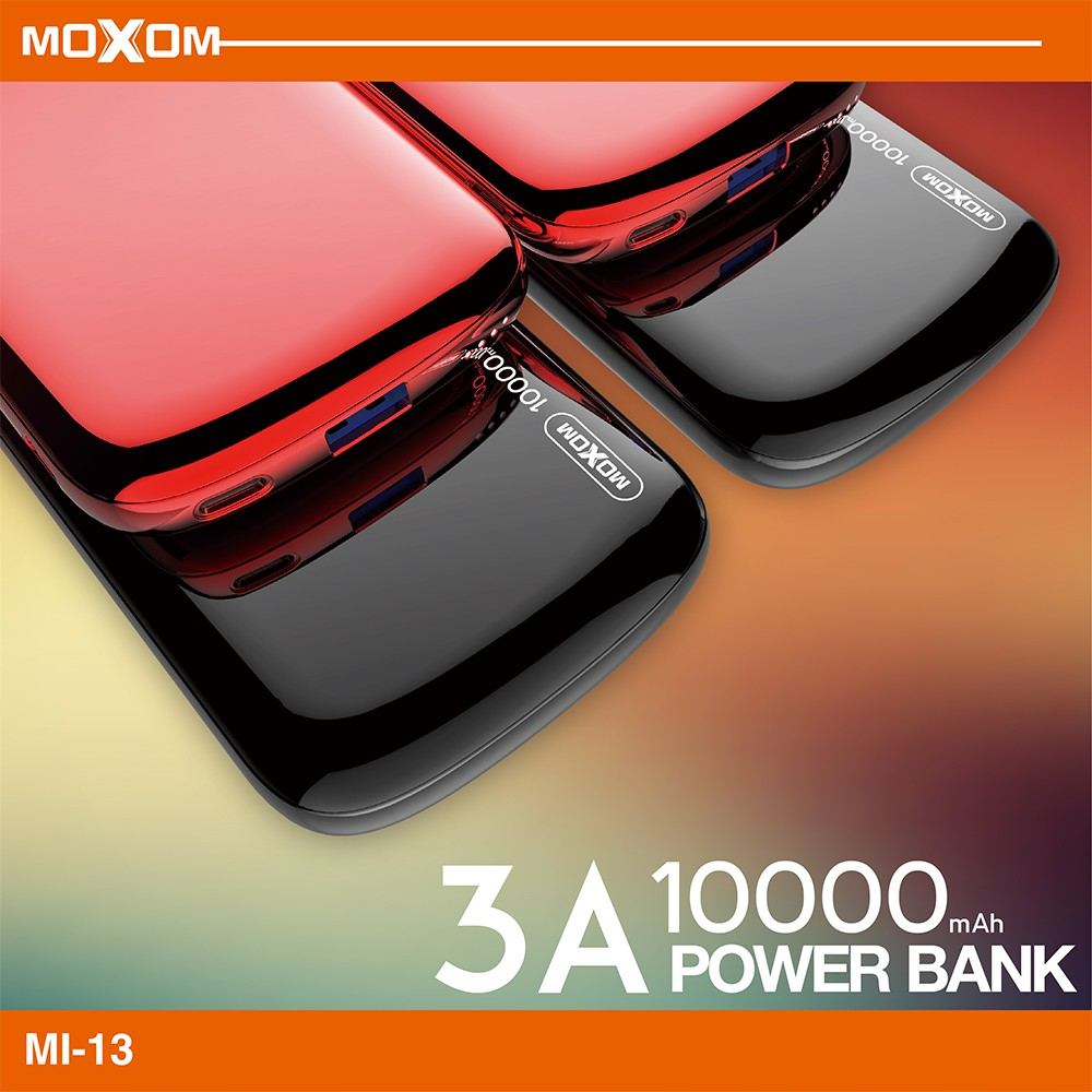 EXTERNAL BATTERY MOXOM 10000MAH FOR SMART DEVICES POWER BANK MI 13 بطارية شحن ,Smartphones & Tab Power Banks
