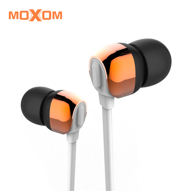 EARPHONE MOXOM  3.5MM WIRED SUPER BASS SPORT WITH MIC FOR IOS/ANDROID - MH-09 ,Smartphones & Tab Headsets