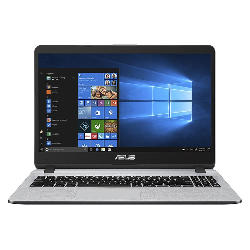 NOTEBOOK ASUS X507UA I3 7020U 2.30GHz 3M  4G HD480 SSD VGA INTEL 15.6 GRAY ,Laptop Pc