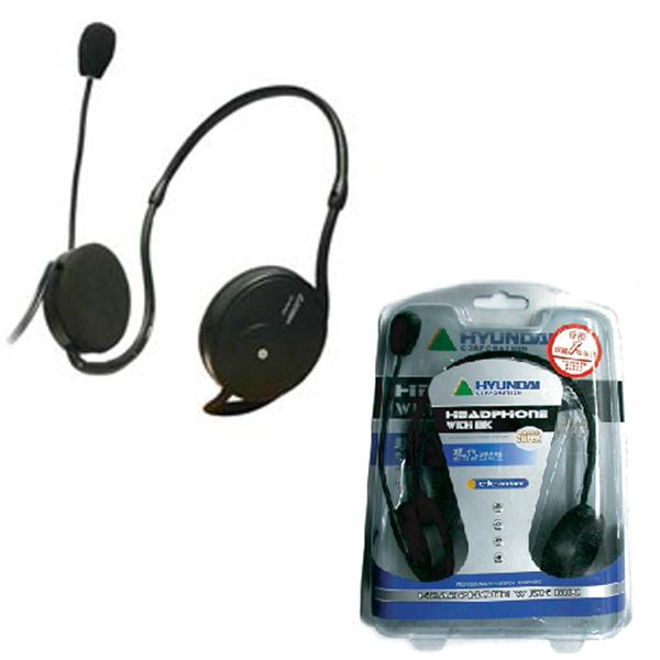 HEADPHONE & MIC HYUNDAI CJC-993MV خلف الراس ,Headphones & Mics