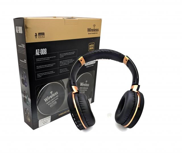 HEADPHONE BLUETOOTH AZ-008+FM+ MICRO SD+ AUX COLOR ,Headphones & Mics