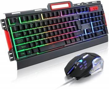 KEYBOARD COMPO GAMING SET K33+MOUSE RGB LIGHTING 4000 DPI ,Keyboard