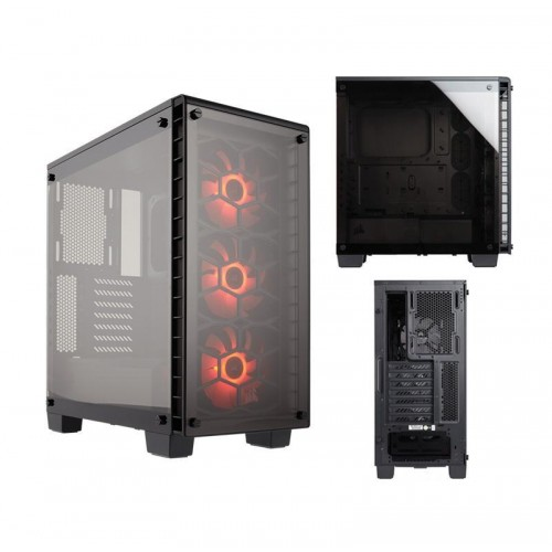 CASE CORSAIR GAMING MIDDLE TOWER CRYTAL SERIES 460X COPACT ATX ,Case & Power Supply