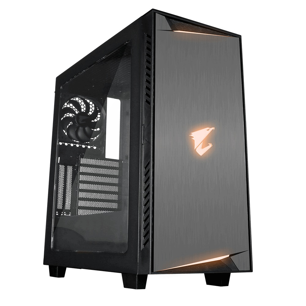 CASE GIGABYTE AORUS GAMING AC300W LITE RGB FUSION MID TOWER ,Case & Power Supply