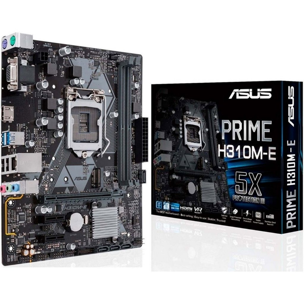 MB ASUS I7 INTEL H310M-E  SOK1151 FOR 8TH/9TH GEN DDR4 UP TO 32 G/LAN GIGABIT /HDMI+D-SUB /USB 3.1/M.2 ,Desktop Mainboard