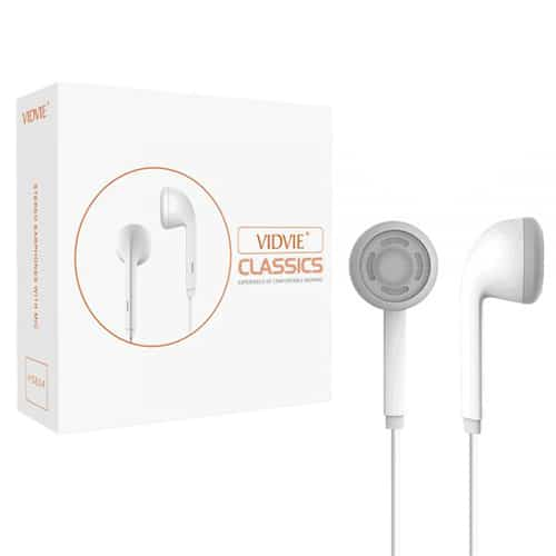 EARPHONE VIDVIE  FOR IOS/ANDROID WITH MIC+  HIGH QUALITY HS614 عظم ,Smartphones & Tab Headsets