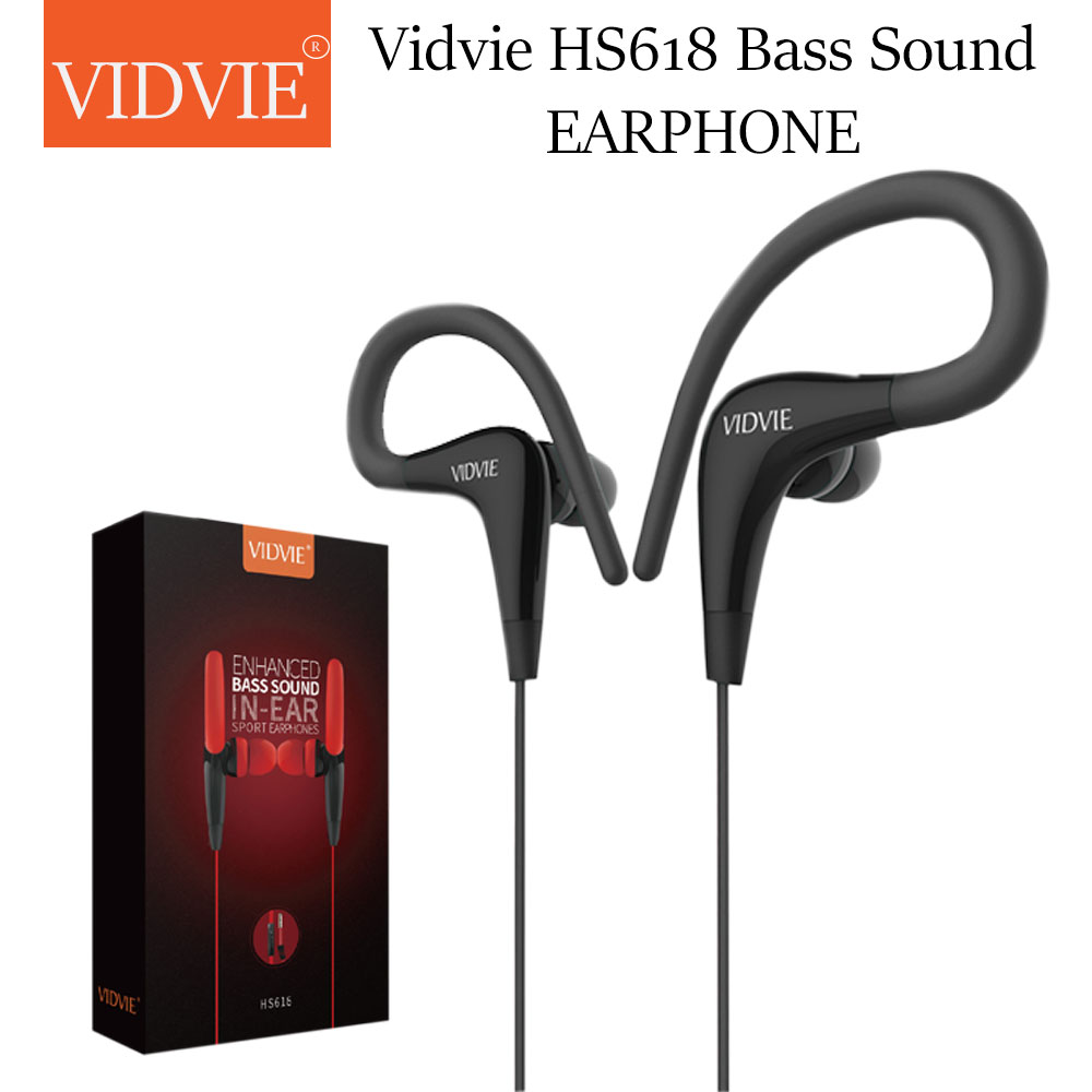 EARPHONE  VIDVIE  FOR IOS/ANDROID WITH MIC+ HIGH QUALITY HS618 ضغط رياضية ,Smartphones & Tab Headsets